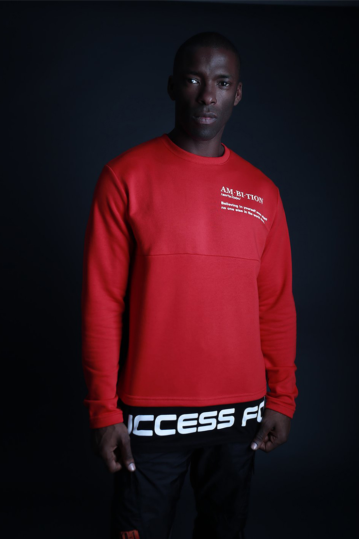 Success-Sweater-red